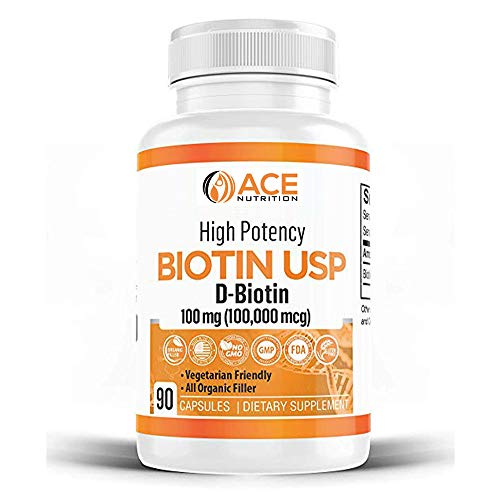 High Potency Biotin USP (D-Biotin) 100mg (100,000mcg)