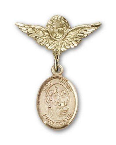 Icecarats Créatrice De Bijoux En Or Charme Ange Pin Badge Sainte De Famille Rempli 1 X 3/4