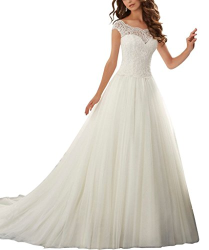 B Elfenbein Amore Braut Brautkleid Kathedralezug Ballkleid Hochzeit Prinzessin Luxus Frauen OzwOq784