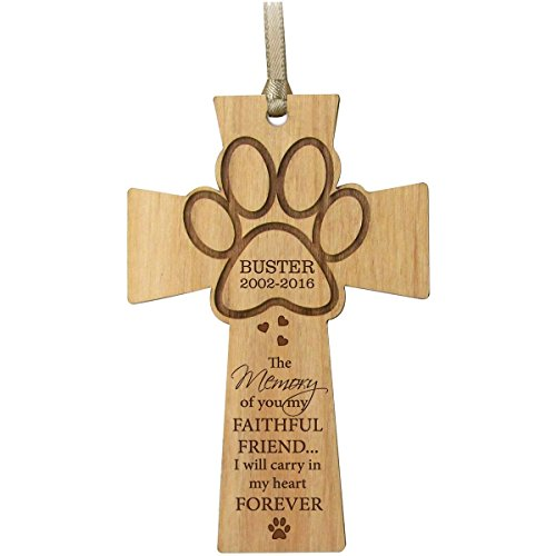 Personalized Pet Memorial dog cross Ornament 2016 Christmas Sympathy gift for Pets for loss of dogs or cats In Memory keepsakes by DaySpring International (Pet Cross)
