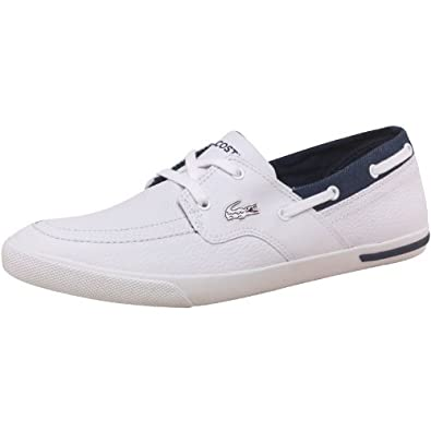 4fd989c0d8753 Lacoste Ramer Boat Shoes White Dark Leather Mens (UK 6 USA 7 EUR 39.5