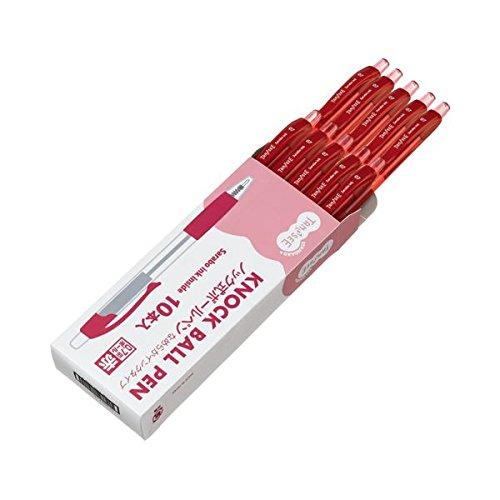 ロング芯タイプ 1セット (まとめ) 関連 青 筆記具 【×5セット】 0.7mm ノック式油性ボールペン (10本) 文房具・事務用品 TANOSEE