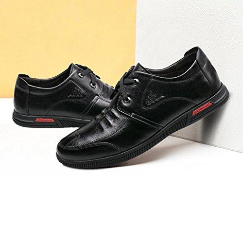 nuevos de Zapatos de Color Mediana Zapatos Hombres Cuero Sandalias de 2 5 CJC para EU42 Padre Negros Respirables Hombre Verano de 1 de Tamaño Zapatos UK8 chanclas y Edad ntwxq7ZY