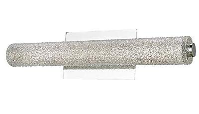 "Abra Lighting 20094WV-BN Radius - 32"" 15W 1 LED Bath Vanity, Brushed Nickel Finish with Diamond Glass"
