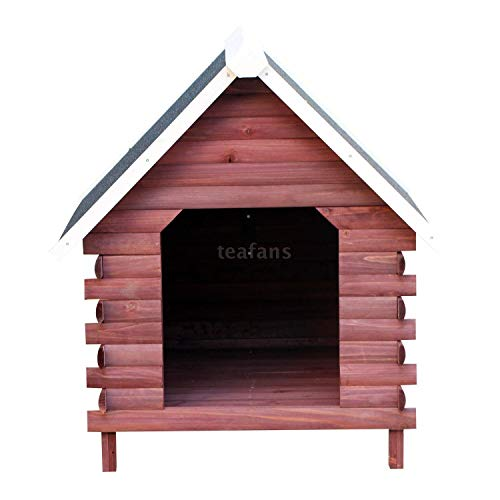 Hunsa8 Pet Shelter Lodge Wooden Weather Resistant Elevated Dog House