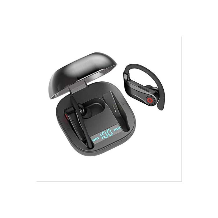 HBQ Q62 TWS 5.0 Bluetooth True Wireless Earphones Ear Hook Headphones Sports Earbuds with Power Dispaly charging case…