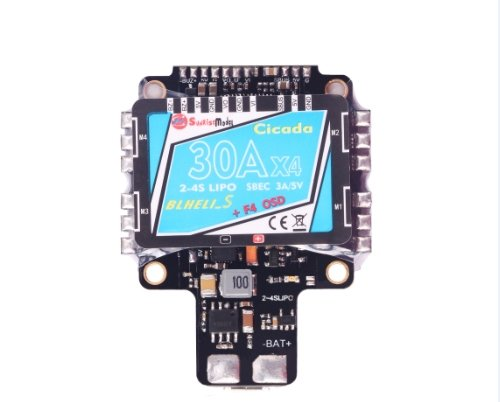 SunriseModel Cicada AIO Flight Controller (F4, 30x4 BLHeli_S DSHOT ESC, OSD, PDB w/BEC, Current Sensor) ()