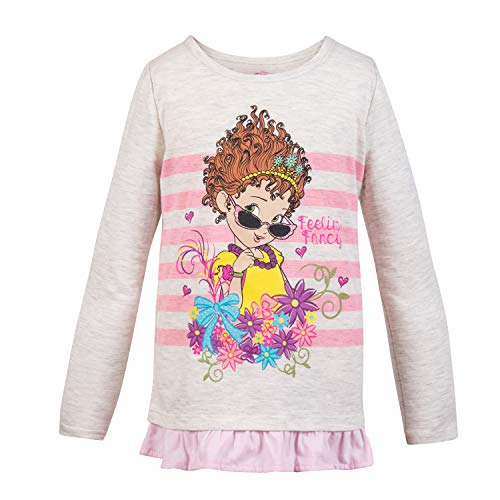 Disney Junior Disney Fancy Nancy Long Sleeve Shirt Girls Fancy Nancy Long Sleeve T-Shirt (Pink Stripe, 3T) (Jr Kids Toothbrush)