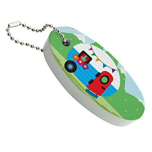Graphics and More Vintage Retro Camper RV Camping Travel Trailer Floating Foam Keychain Fishing Boat Buoy Key Float