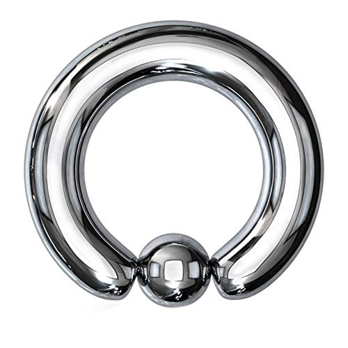 1/2 Inch 8g Captive Bead Rings - BYB Barbells Pair of Surgical Steel Captive Bead Rings (CBR) for Stretched Piercings 10G-00G (8G 1/2