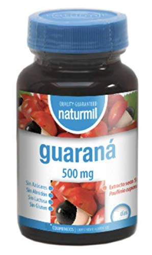 Guaraná 500mg 120 comp. Naturmil: Amazon.es: Salud y cuidado ...