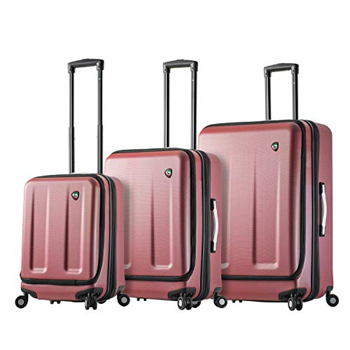 Mia Toro Italy Esotico Hardside Spinner Luggage 3 Piece Set, Red, One Size