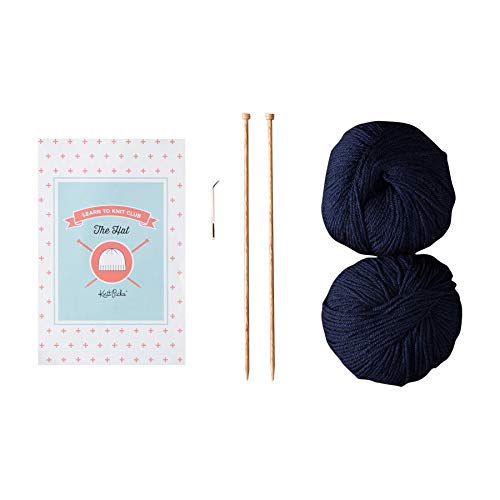 Knit Picks Learn to Knit Club: The Hat - Beginner Knitting Kit (Blue)