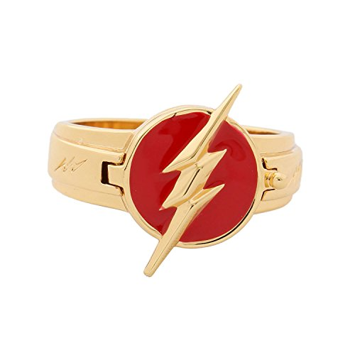 - Xcoser The Flash Rings Exquisite Alloy Rings The Flash Cosplay Accessory Logo