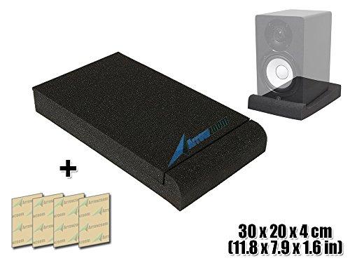 e Large High Density Isolator Foam Studio Solutions Monitor Speaker Isolation Pads Dampening Recoil Stabilizer Speaker Risers 11.8 X 7.9 X 1.6 in AZ1108 (Pyramid Studio Speakers)