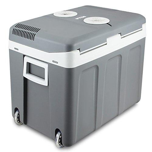DELLA 40 Quart Portable 12V Electric Cooler/Warmer Thermoelectric Travel Camping RV w/Wheels by DELLA