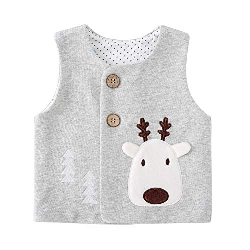 pureborn Baby Girls Boys Waistcoat Sleeveless Cotton Lightweight Vests 0-4 Years