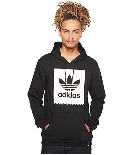 adidas Originals Men's Blackbird Basic Hoodie, Black/White, Medium
