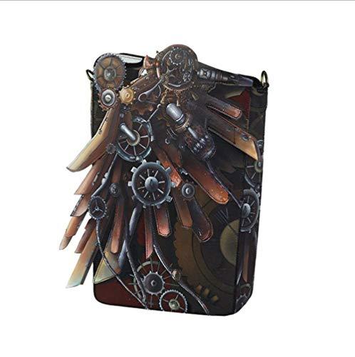 HAOGUO Axelväska för kvinnor, trend retro bärbar europeisk och amerikansk mode ny europeisk och amerikansk utrustning digital tryck axelväska handväska