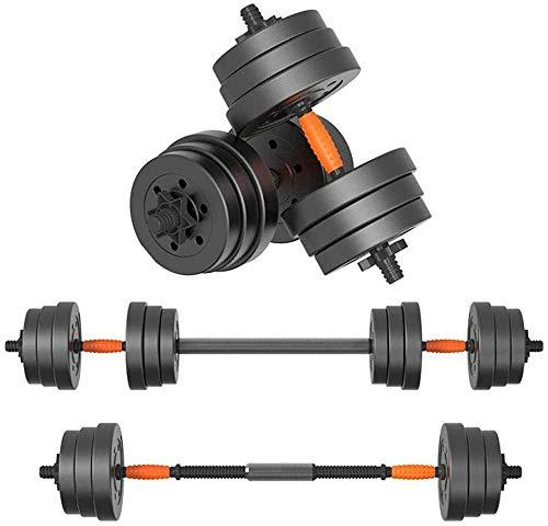 LCNING 10 kg de Peso con Mancuernas Mano con Barra Ajustable Gym Equipment Barra Mancuernas de Doble Uso del Dispositivo…