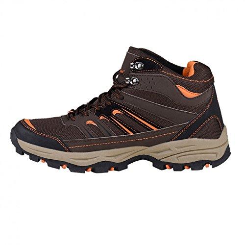 HSM - Zapatillas de senderismo de Material Sintético para hombre marrón