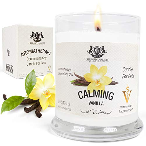 Aromatherapy Deodorizing Soy Candle for Pets,...