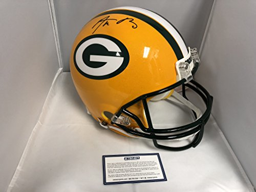 Aaron Rodgers Signed Autographed Green Bay Packers Full Size Proline Authentic Helmet Steiner Sports Certified Hologram W/Photo From (Autographed Authentic Pro Line Helmet)