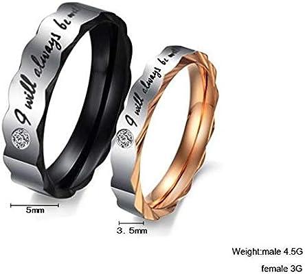 2015 Style Titanium Steel Wedding Anniversary Gift Couple Ring Set