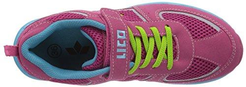 Lico Magic VS Mädchen Sneakers Pink (pink/tuerkis/lemon)