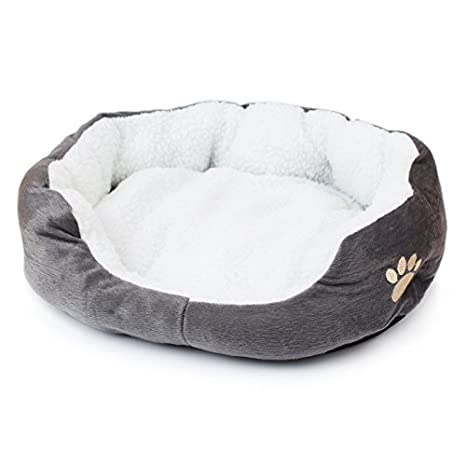 AHZcasa camitas cama de algodon para mascotas perro gato casa del cachorro nido para descansar dormir jugar-Gris: Amazon.es: Productos para mascotas