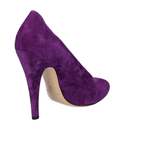 Casadei Zapatos Mujer 37 EU Zapatos de Salón Púrpura Gamuza AZ383