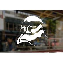 25cm Stormtrooper Helmet Helm Star Wars Vinyl Stickers Funny Decals Bumper Car Auto Computer Laptop Wall Window Glass Skateboard Snowboard