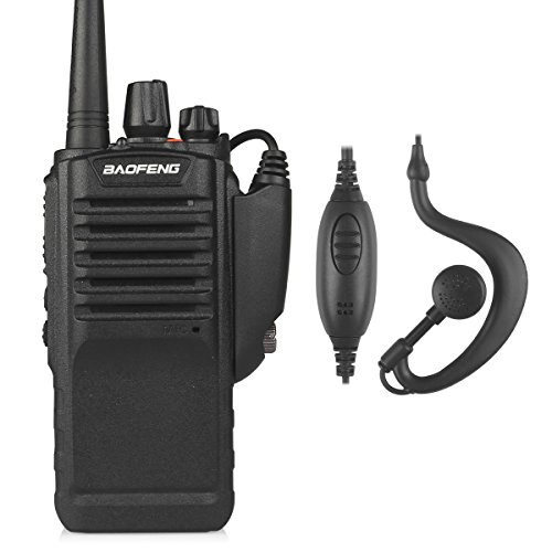 BAOFENG BF-9700 Dual Band Two-Way Radio, Waterproof Dustproof IP67 Walkie Talkie Transceiver, UHF, with High Gain Antenna and 2800mAh Battery, Black