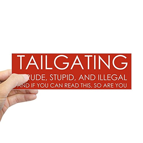 CafePress Tailgating Bumper Sticker Rectangle