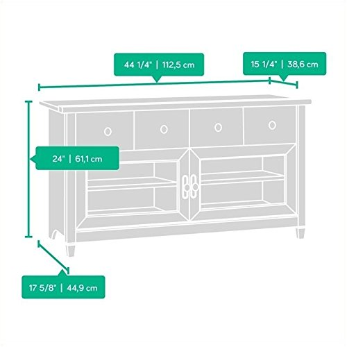042666133005 - Sauder Edge Water Panel TV Stand, Estate Black Finish carousel main 1