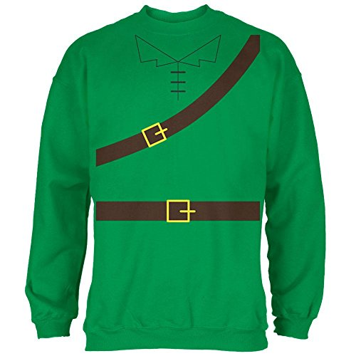 Halloween Robin Hood Costume Irish Green Adult Sweatshirt - 2X-Large - Naughty Robin Costumes