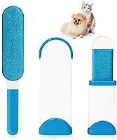 Brosse poils animaux pour animal domestique - AUELEK Brosse de nettoyage magique réutilisable pour enlever les poils d'animaux de compagnie avec Auto-nettoyage incluse brosse de taille voyage (Bleu)
