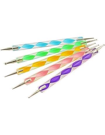 5X Demarkt Nail pluma punta de broca Pluma de dibujo Herramientas del clavo art(multicolor