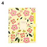 Fashion Classic Floral Paper File Document Bag Folder Pouch School Office Supplies - Yellow 32cm23cm -Grey990