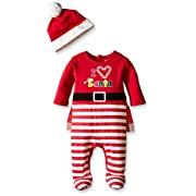 The Children's Place Baby-Girls Santa Set, Ruby, 0-3 Months