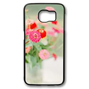 Colorful Flowers Theme Case for Samsung Galaxy S6 PC Material Black