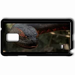 Personalized Samsung Note 4 Cell phone Case/Cover Skin Anaconda Black