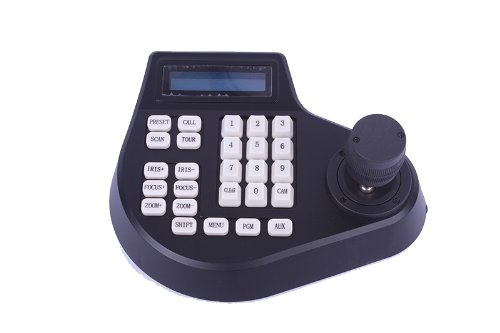 CCTV LCD Screen Display joystick keyboard controller for PTZ Cam Camera