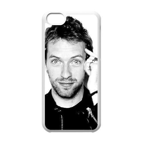 P6J54 Coldplay L3Q9DN cas d'coque iPhone de téléphone cellulaire 5c couvercle coque blanche FT3EJE2PQ