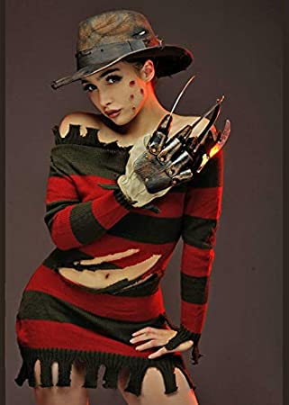Magic Box Disfraz de señorita Freddy Krueger Mujer XS (UK 8 ...