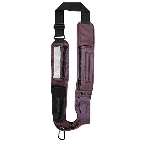 iBand Sling Adjustablet Cross Body Sling, Plum Replace Overstuffed Pockets, Bulky Purses, Dreaded Fanny Packs! Unisex Design
