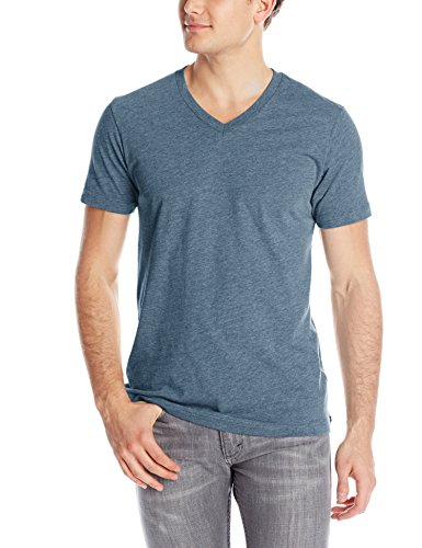 - Volcom Men's Heather V-Neck Short Sleeve T-Shirt, Airforce Blue, X-Large