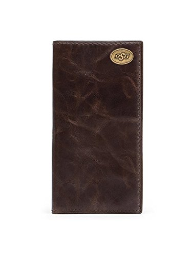 Oklahoma State Cowboys Legacy Tall Wallet (Oklahoma State Brown Leather)