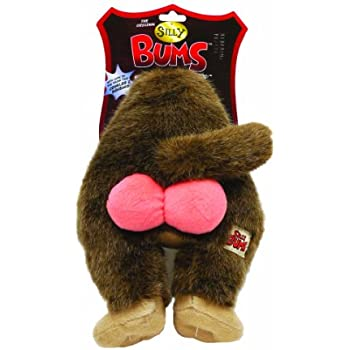 Amazon.com : Silly Bums Baboon Bum Plush Dog Toy, Small