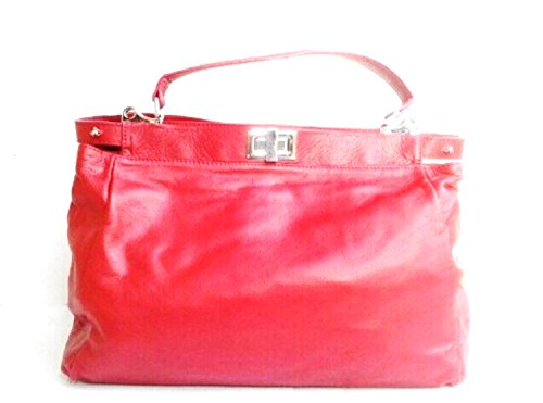 SUPERFLYBAGS Borsa Donna in vera pelle sauvage morbida modello Firenze Made in Italy Rosso